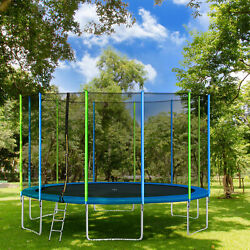 16ft Premium Trampoline With Enclosure Safety Net Adults/kids Outdoor Trampoline