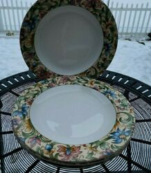 4 Dinner Plates Jacobean By Royal Doulton Everyday Excellent Condition 10 5/8