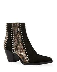 Christian Louboutin With My Guitar Spiked Studded Ankle Cowboy Boots 1395