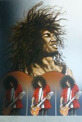 Ronnie Wood Slash 1994 Hand Signed By Both Artists Rolling Stones