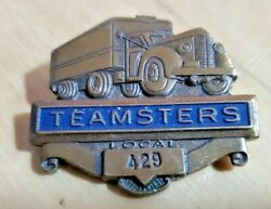 Teamsters Local 429 Trucking Truck Drivers Union Pin Blue And Brass Semi