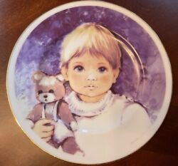 Art Collection By Arklow Ireland Boy With Bear Plate