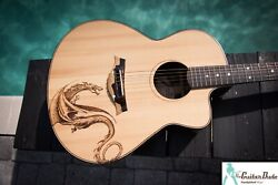 Amaurys Hand-made Boutique Acoustic Guitar -ziricote /spruce - W Pyrography