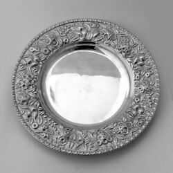 Repousse Round Plate Kirk Son Co Sterling Silver