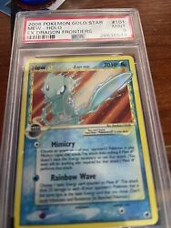 Pokemon Cards Dragon Frontiers Psa 9 Gold Star Mew Mint