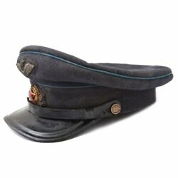 Vintage Blue Cap Command Staff 1938 Ussr Original Very Rare Hat Red Army Old