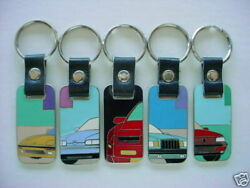 Key Fobs Key Chains Lot Of 5 New Euroseries Collection Automotive Art