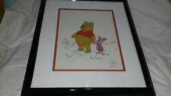 Disney Animation Pooh Cel With Certificate With Frame Approximately 52 × 44 Cm