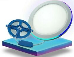 Dual Color Thin Round Frameless Led Panel Light - 24w Rgb Ring