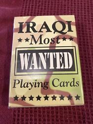Bicycle Iraq Most Wanted Playing Cards Sealed Brand New Made Usa