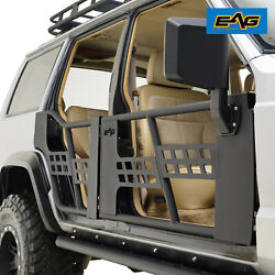 Eag Steel Tube Doors With Mirrors Fit 84-96 Jeep Cherokee Xj