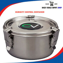 Humidity Controlled Botanical Storage Smell Proof Airtight Stash Metal Container
