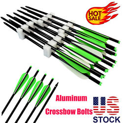 Archery Aluminum Arrow Crossbow Bolts For Outdoor Targeting Hunting 16/18/20/22