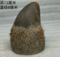 Nongovernmental  Old Collection   Natural Ox Horn Tip Statue