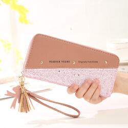 Ladies Purse Women Wallet With Shopping Card Slots Phone Holder Clutch Handbags $10.86