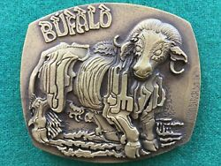 Beautiful Antique And Rare Bronze Medal Of The Chinese Buffalo Sign, 1980