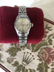 Rolex Oyster Perpetual Date 60and039s Watch Used Womenand039s Antique Auto Champagne Dial
