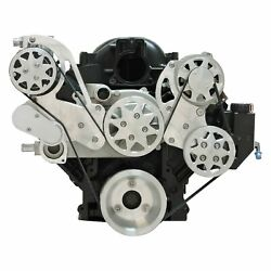 For Chevy Silverado 1500 99-13 Front Serpentine Drive System W Remote Reservoir