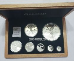 2020 8.9 Oz Proof Silver Mexican Libertad 7 Coin Set Without Coa.