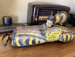 """1939 Marx Charlie Mccarthy Private Car Tin Toy 16"""""""