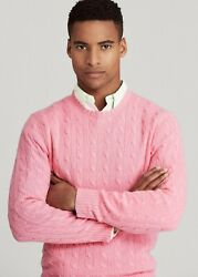 Polo Mens Bright Pink 100 Cashmere Sweater