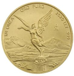 2020 Mexico 1/4 Oz Gold Libertad Coin Bu Only 700 Minted Sold Out In Hand