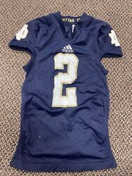 Adidas 2012 Game Used Notre Dame Football Home Jersey 2