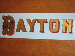 2 1913 1914 1915 1916 Dayton Gas Tank Decal Antique Motorcycle Spacke Deluxe
