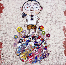 Takashi Murakami Flowers And Death And Me And... S/n Ltd.300 Flower 727