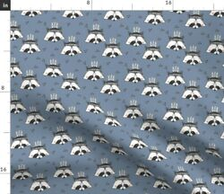 Blue Small Print Panda Feathers Kids Spoonflower Fabric By The Yard