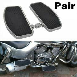 Pair Motorcycle Front Foot Boards Floorboards Side Pedals L And R For Honda Yamaha