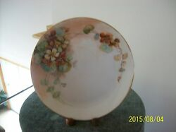 Hutschenreuther Selb Antique Poreclain Plate Charger Signed And Date Floral Design