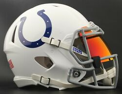 Indianapolis Colts Nfl Football Helmet With Torch Visor / Eye Shield