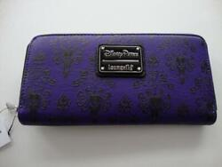 Disney Parks 2019 Loungefly Haunted Mansion Purple Wallpaper Wallet - New