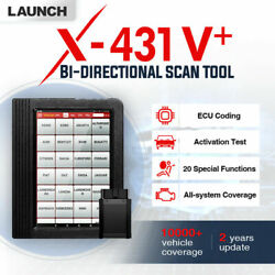 Launch X431 V+ Auto Code Diagnostic All Systems Scan Scanner Tool Obd2 Wifi Bt
