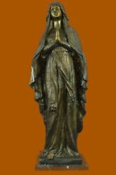 Signed Original Giancarlo Vintage Hand Made Extra Large Virgin Mary Bronze Sale