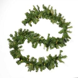 Noble House 9 Ft. Mixed Spruce Christmas Garland Open Box Co3803