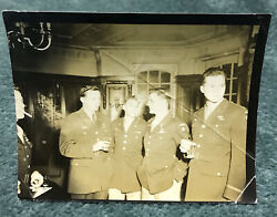 Original Ww2 Wwii 82nd Airborne Division Officers 5 X 4 Photo