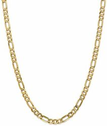 20 14k Yellow Gold 6mm Concave Open Figaro Chain Necklace