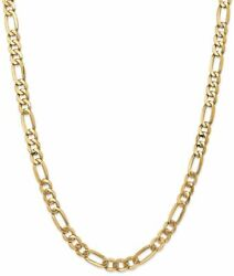 28 14k Yellow Gold 7mm Flat Figaro Chain Necklace