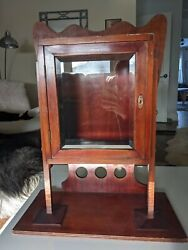 Antique Wood And Glass Cabinet 1898