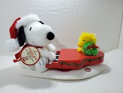 Nwt Hallmark 2009 Swinginand039 With Snoopy And Woodstock Peanuts Plush + Battery Works