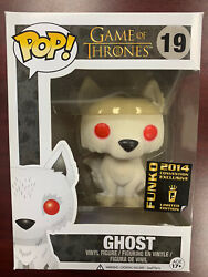 Funko Pop Tv Game Of Thrones Ghost 19 2014 Sdcc Convention Exclusive