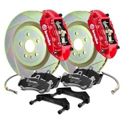 For Ford Mustang 05-14 Gt Series Slotted 1-piece Rotor Front Big Brake Kit