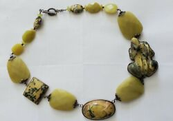 Amy Kahn Russell Ss Turquoise And Jade Frog Necklace