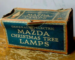 Vintage Box Mazda Christmas Tree Lamps C-6 1box Marked Green General Electric