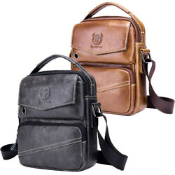 Genuine Leather Shoulder Bag for Men Business Cross Body Messenger Bag Satchel $35.90