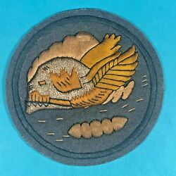 Ww2 Us Army Air Corps 85th Fighter Squadron Patch Hand Emb. On Felt Exc.cond.