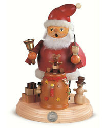 German Incense Smoker Santa Claus On Support, Height 19 Cm / 7 In.. Mu 16188 New