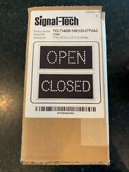 Signal-tech Tcl714gr-100/120-277vac Open Closed Sign Part 17285 New In Box